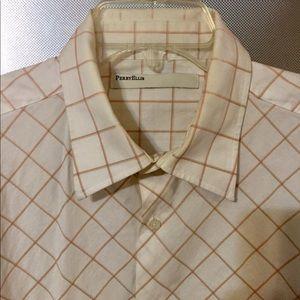 XL Perry Ellis Long Sleeve Shirt W French Cuffs